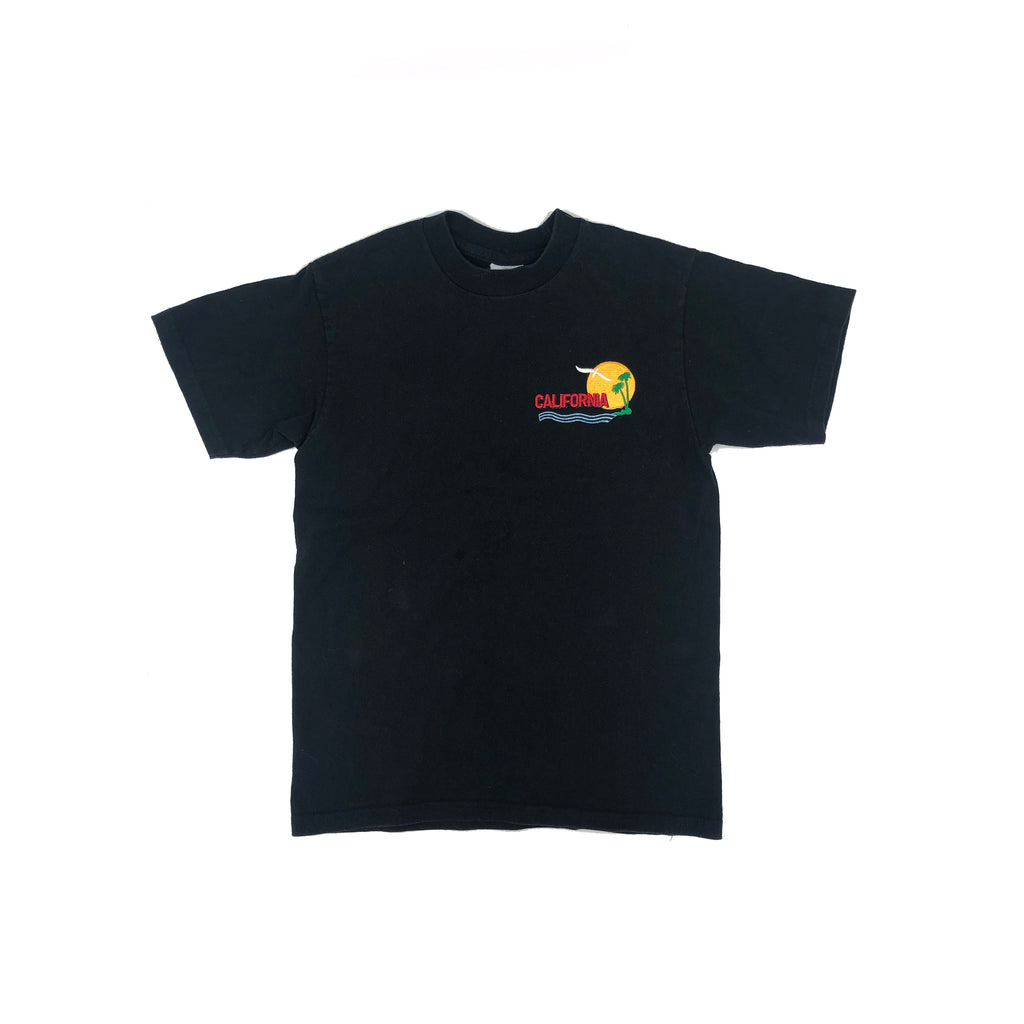 VINTAGE KIDS BLACK T-SHIRT w/ CALIFORNIA PATCH