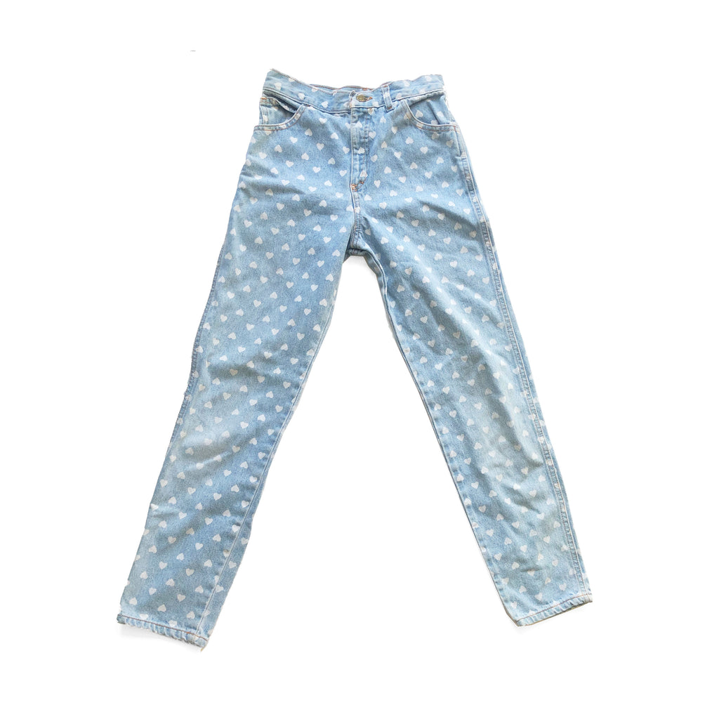 90'S VINTAGE KIDS HEART JEANS BY ZENA BASIC