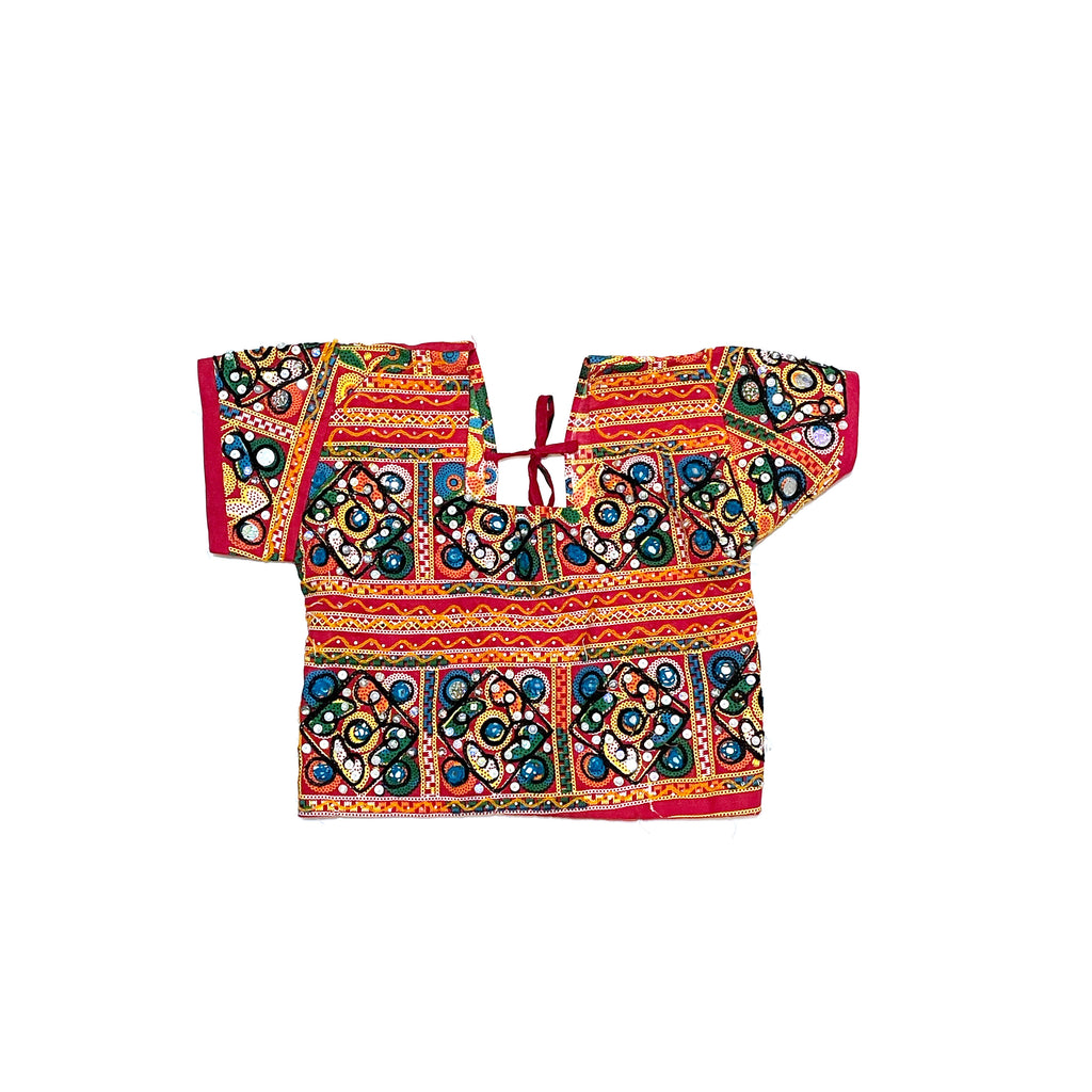 KIDS INDIAN CHANIYA CHOLI-GUJARATI BOXY TOP
