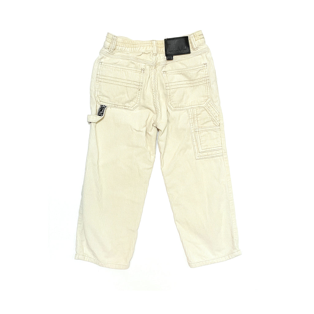 80's VINTAGE KIDS BUGLE BOY WIDE CORD CARPENTER PANTS