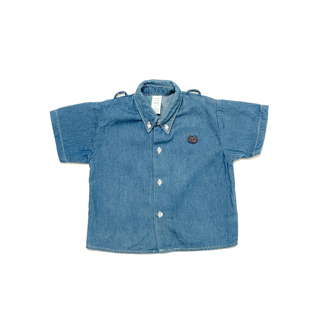 80'S VINTAGE TODDLER BOXY DENIM TOP