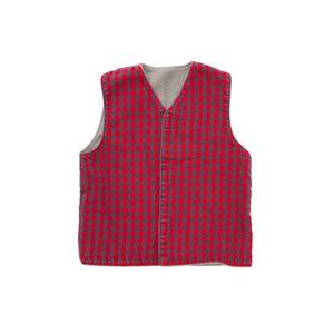 VINTAGE TODDLER FLEECE AND FLANNEL VELCRO VEST