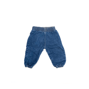 80's VINTAGE INFANT DENIM JOGGERS
