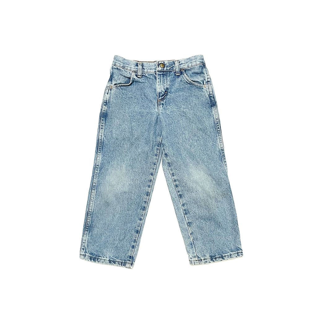 90'S VINTAGE KIDS WIDE LEG MEDIUM WASH DENIM JEANS