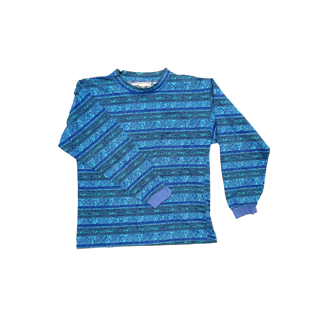 VINTAGE KID'S DEADSTOCK 90's PRINT LONG SLEEVE POCKET TEE