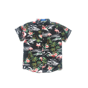 VINTAGE KIDS FLAMINGO HAWAIIAN SHIRT