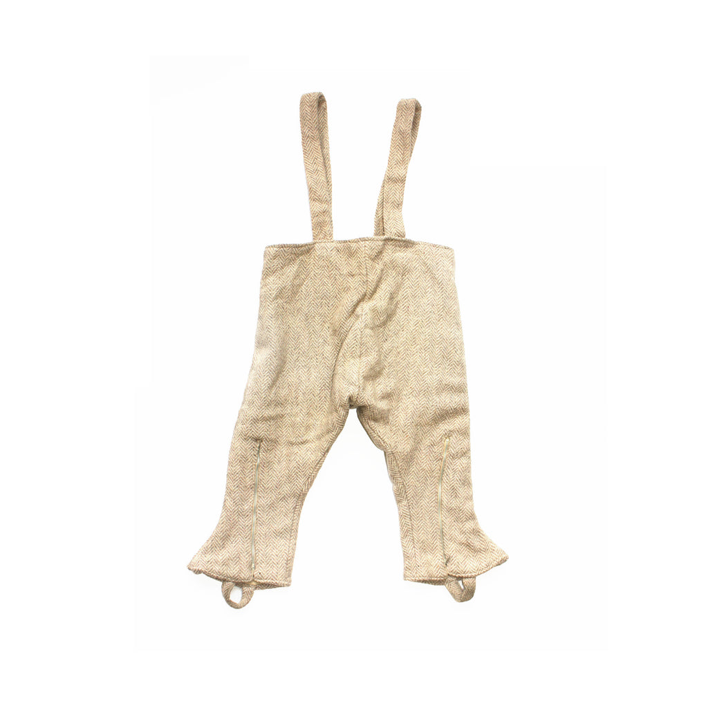 VINTAGE KIDS WOOL RIDING TROUSERS WITH SUSPENDERS