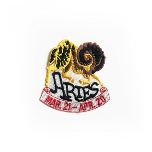 VINTAGE ARIES ZODIAC PATCH