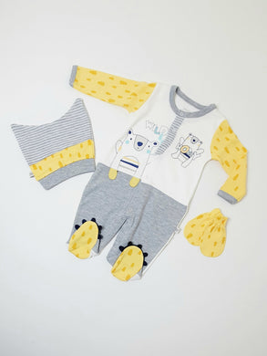 Three Pieces Baby Romper Suit