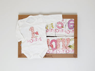 Milestone bodysuits newborn birthday dubai uae