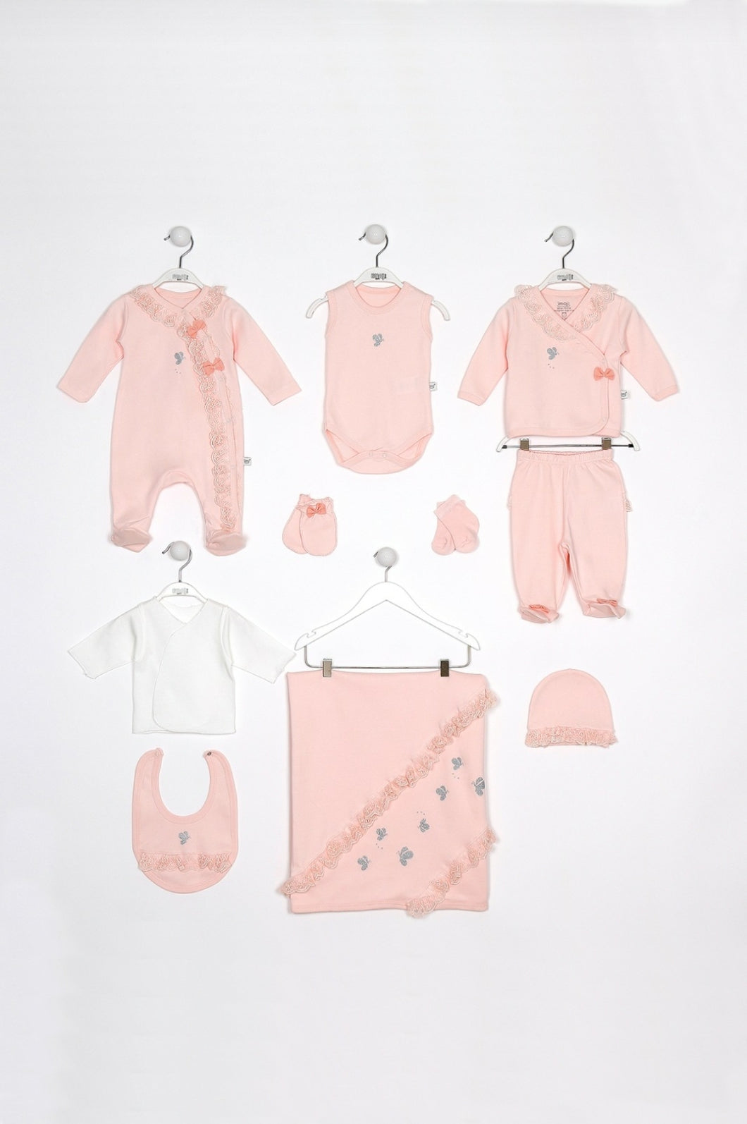Newborn Pink Baby Set 10 Pieces