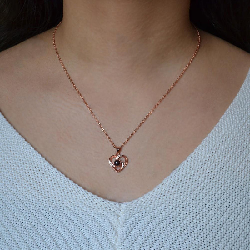 100 Language Heart Necklace - Cariona
