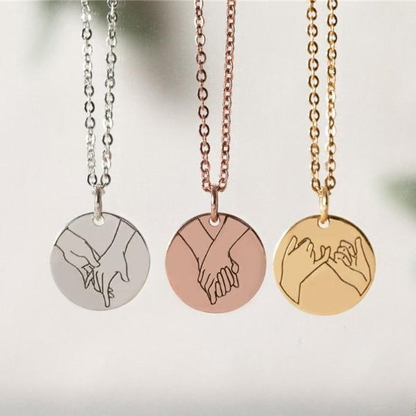 Hand Gestures Necklace - Cariona