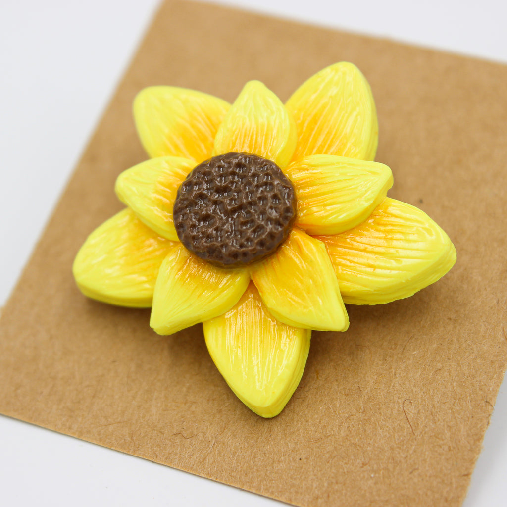 Sunflower Pin - Handmade - The Humble Wagon