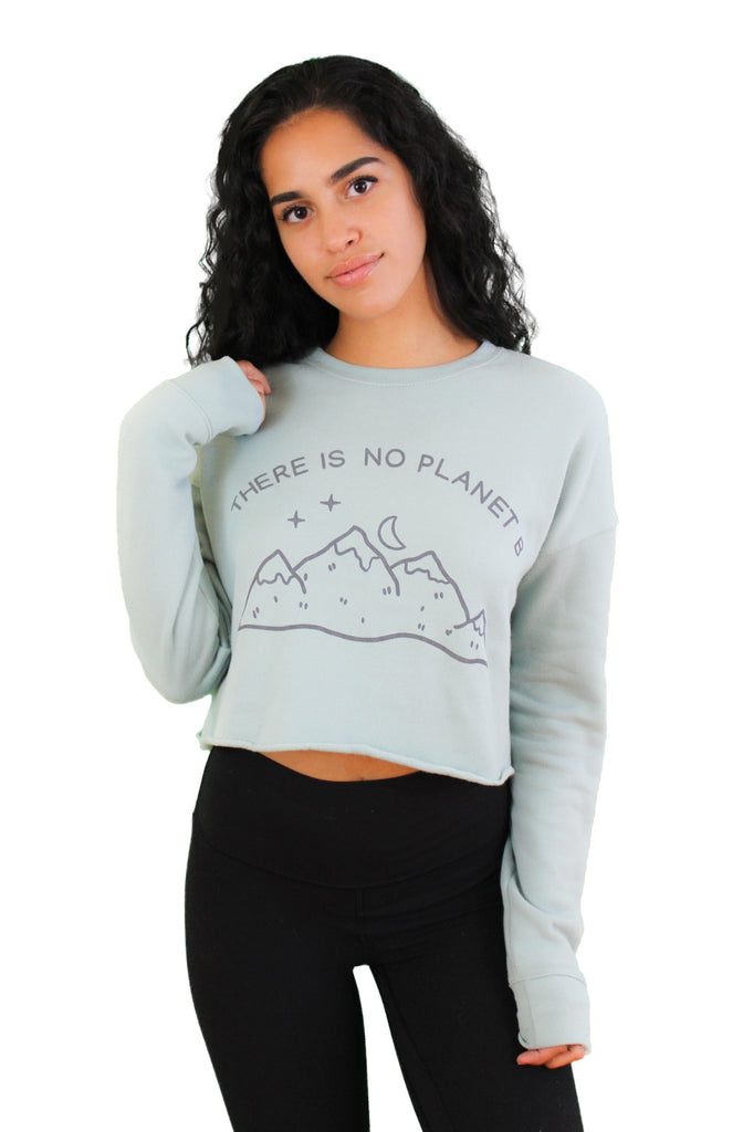 There is no Planet B - Cropped Fleece Sweater - The Humble Wagon