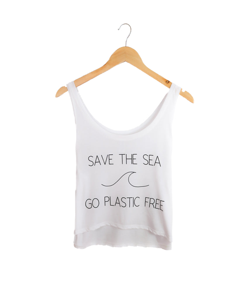 Save The Sea, Go Plastic Free - Tank - The Humble Wagon