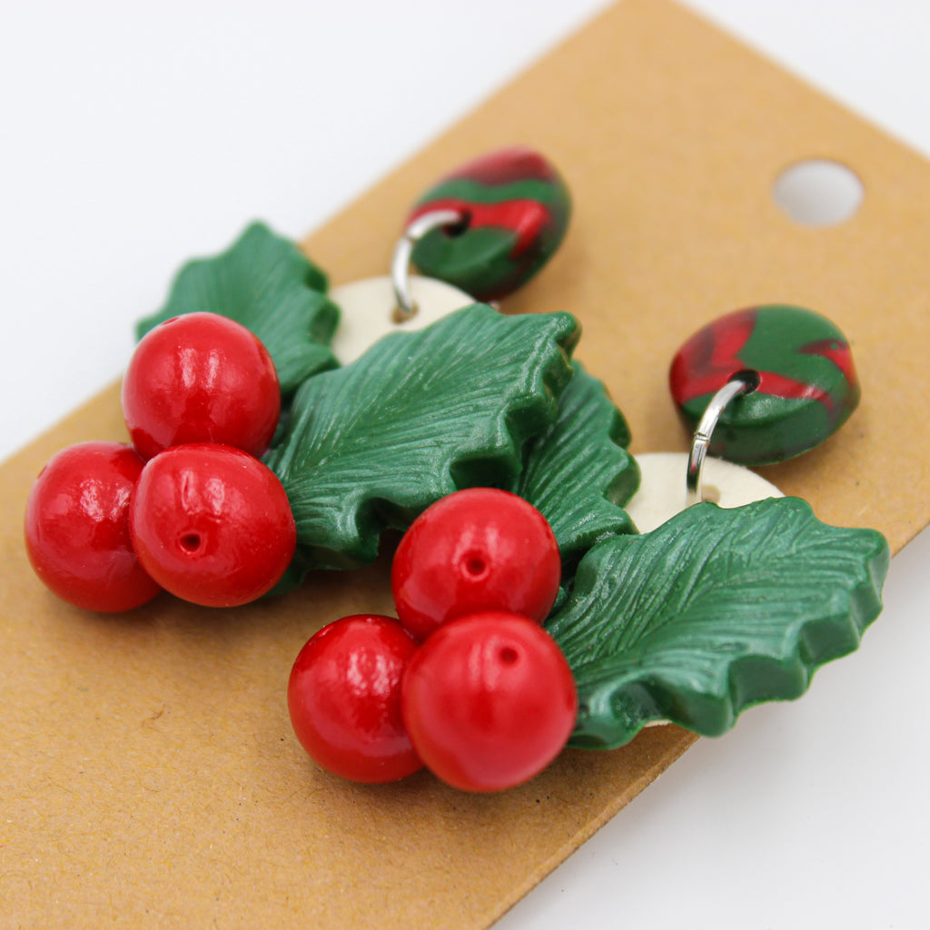 Mistletoe Earrings - Handmade | Limited Edition