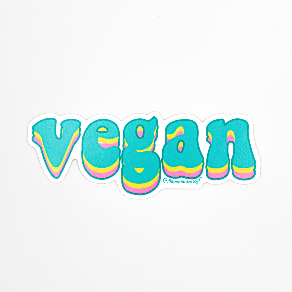 Vegan - Die Cut Sticker - The Humble Wagon