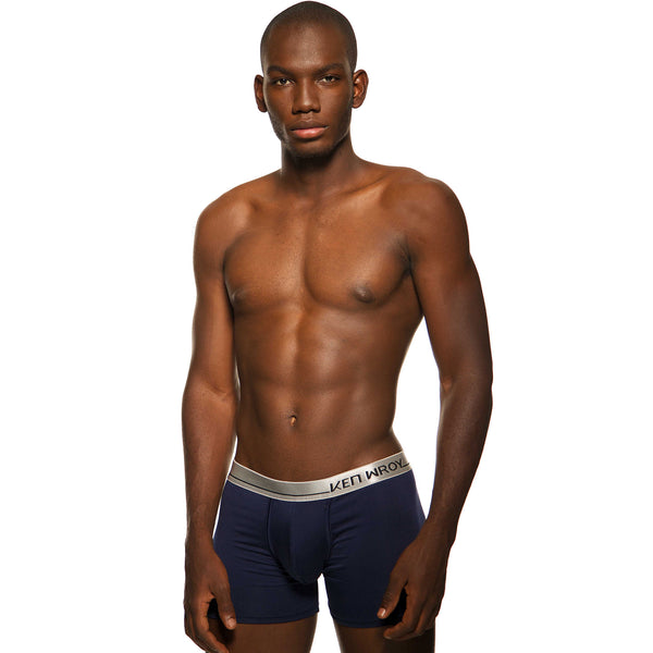 Men's Underwear, New Navy Boxer-brief, Ken Wroy