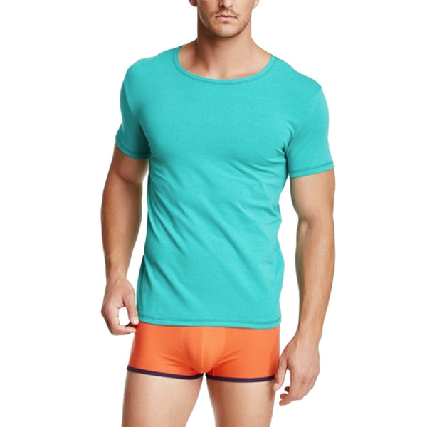 Green t-shirt, new york brand, men's fashion, unicolor shirt