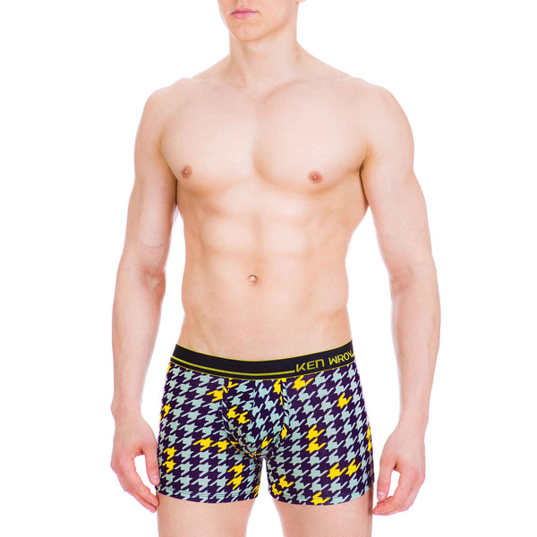 Men's Underwear, Houndstooth Boxer-brief, boxers, Ken Wroy  - 2