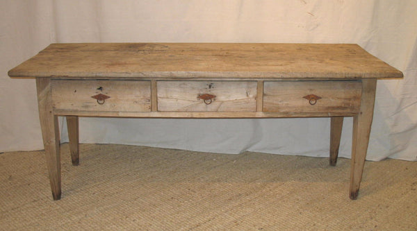 Oak French Harvest Table - Tinnin Imports