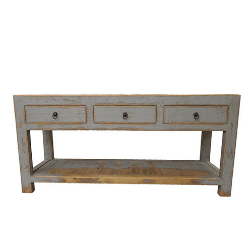 Gray Beechwood Console Table