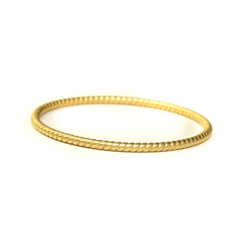 Gold Twisted Bangle Bracelet - Tinnin Imports