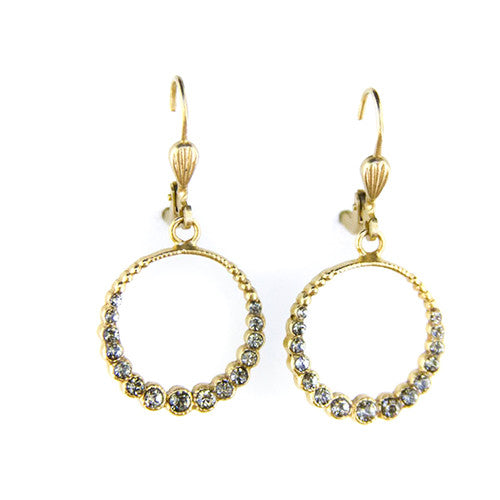 Black Diamond Crystal Earrings - Tinnin Imports
