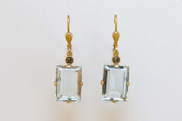 Aqua Swarovski Earrings - Tinnin Imports