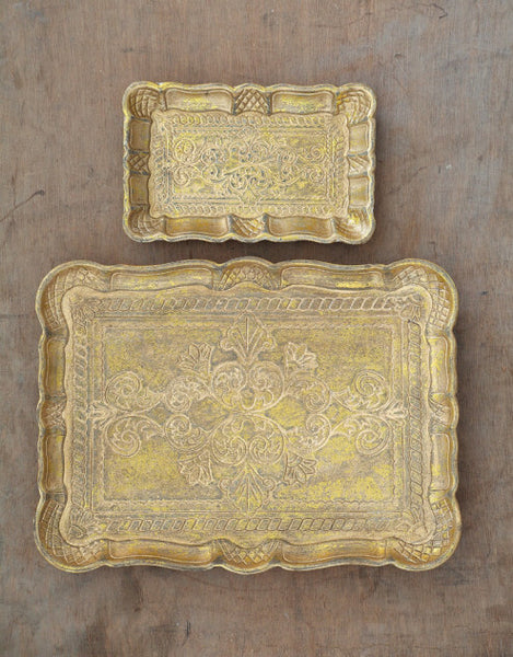 Decorative Wood Tray - Tinnin Imports