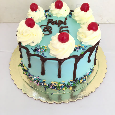 Blue Cherry Pop Cake