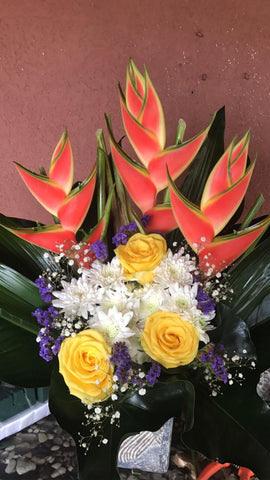 Roses & Tropical Arrangement 2