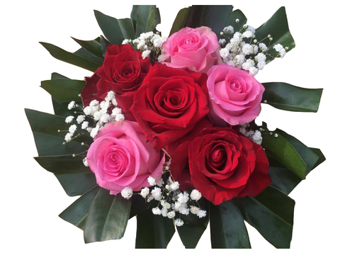Small Red and Pink Roses Bouquet