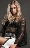 kimono netted top l'une collection