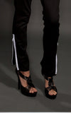 black zippered pants l'une collection