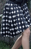 graphic asymmetrical skirt l'une collection