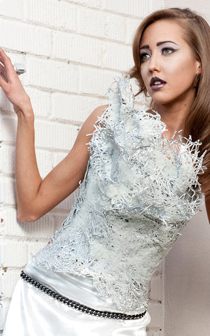 womens plastic and glass iceberg l'une collection bustier