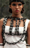 Black plastic chain link top L'une Collection by Anh Volcek