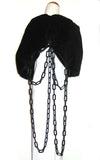 Womens Black Chain Shrug L'une Collection