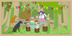 Animal Picnic - GIANT Coloring Mural