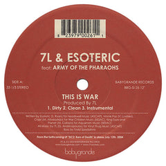 "7L & Esoteric ""This Is War / Rise of a Rebel"" (feat. Army of the Pharaohs) (Vinyl 12"")"