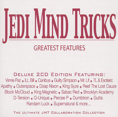 "Jedi Mind Tricks (Vinnie Paz + Stoupe) ""Greatest Features"" (Audio 2XCD)"
