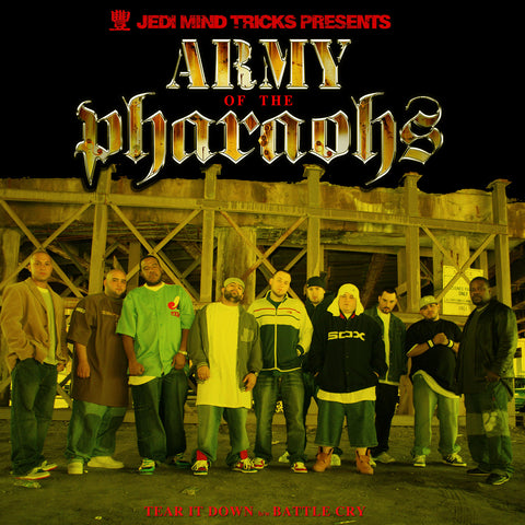 "Jedi Mind Tricks Presents: Army of the Pharaohs ""Tear It Down / Battle Cry"" (feat. Vinnie Paz, Apathy, Outerspace, Celph Titled, King Syze, Esoteric, Chief Kamachi & Des Devious) (Yellow Vinyl 12"")"