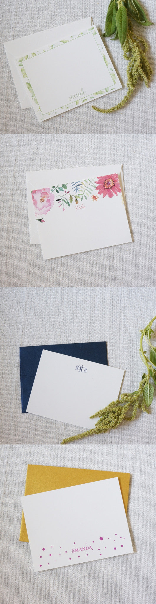 gift idea: personalized stationery