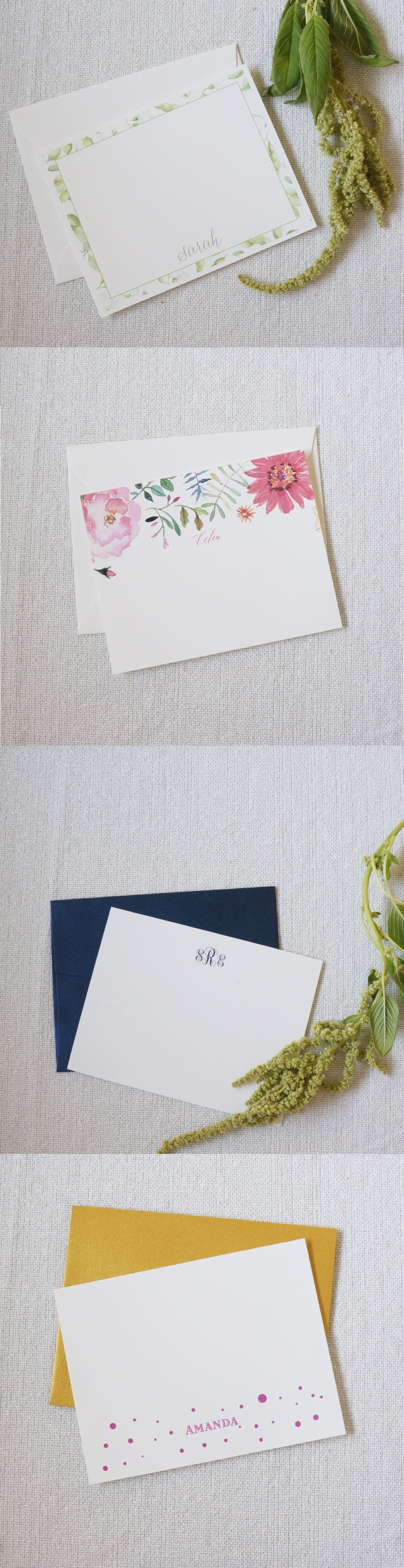 gift idea personalized stationery