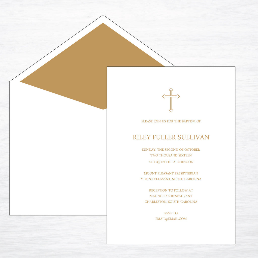 Baptism - shop greeting cards, handmade stationery, & wedding invitations by dodeline design