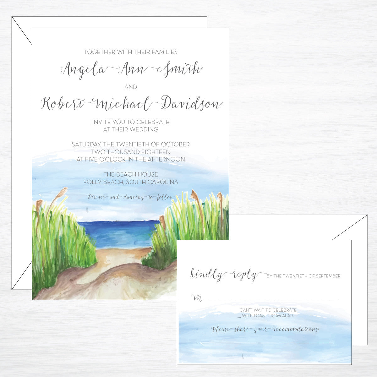 Beach | Wedding Invitation Suite