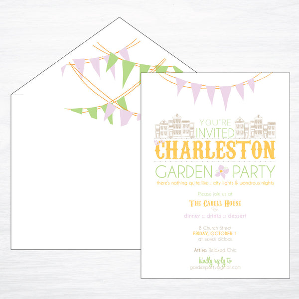 Charleston | Garden Party - shop greeting cards, handmade stationery, & wedding invitations by dodeline design