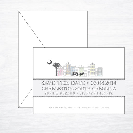Charleston | Wedding Save the Date - shop greeting cards, handmade stationery, & wedding invitations by dodeline design - 1